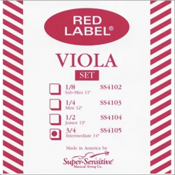 "Super Sensitive 4105, Cuerda Set Viola 14"", Mod. Red Label, Medium"
